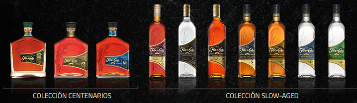 Flor De Cana product line. Photo taken from their website.